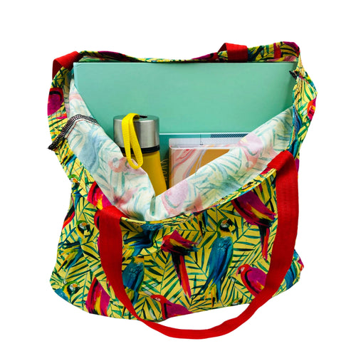 Parrot Tote Bag - Mighty Macaw