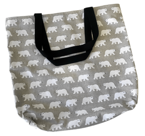 """Bear Hugs"" tote bag - Save the Polar Bears"