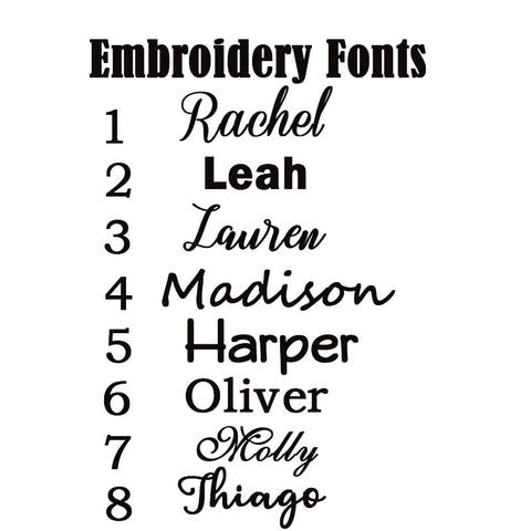font options for name
