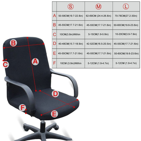Chair cover office sizes