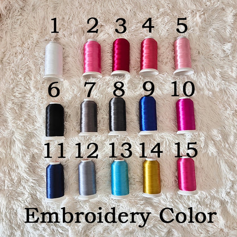 choose your embroidery color