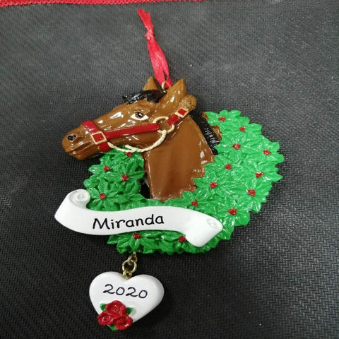 horse personalized christmas ornament for tree christmas horse decoration gift