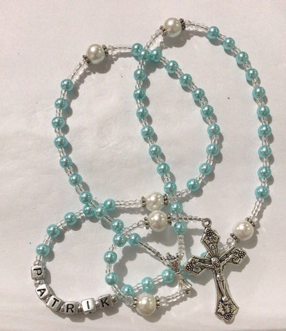 custom name rosary boy communion gift