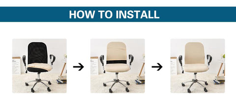 how to install spandex office chair slip cover
