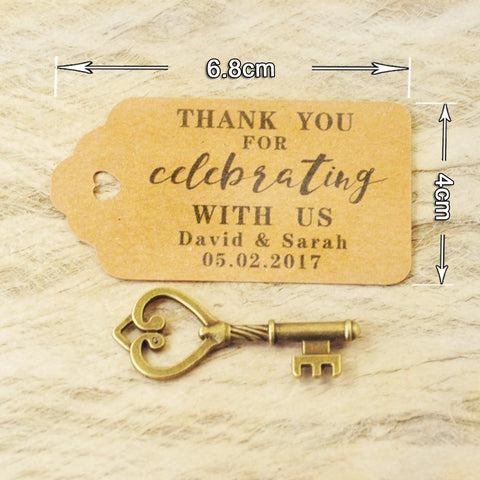 custom personalized tag wedding favor