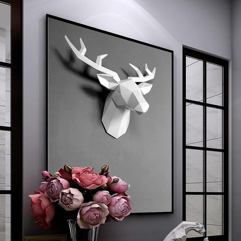 deer head art wall decor home decor