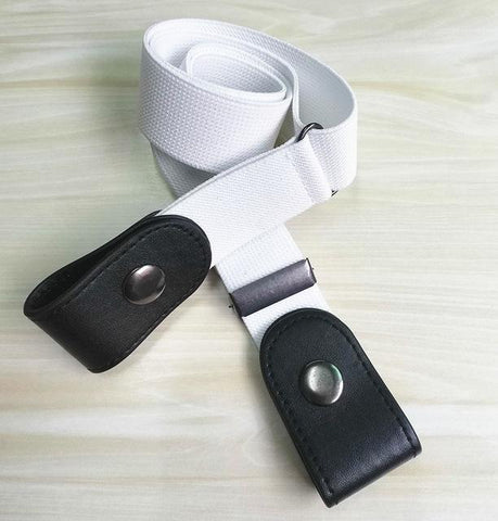 fashion bet no buckle buckel white and black color