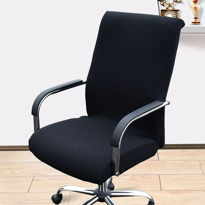 office chair slip covers with zipper black color