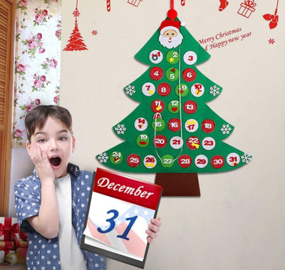 count down to new years christmas felt calendar for kids - winfinity brands
