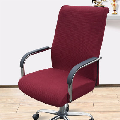 office chair slip covers with zipper burgundy