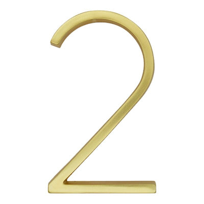 gold brass slim 5 inch house address numbers and letter floating or flush - winfinity brands