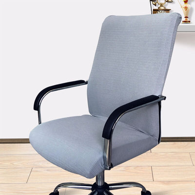 office chair slip covers with zipper grey color gray