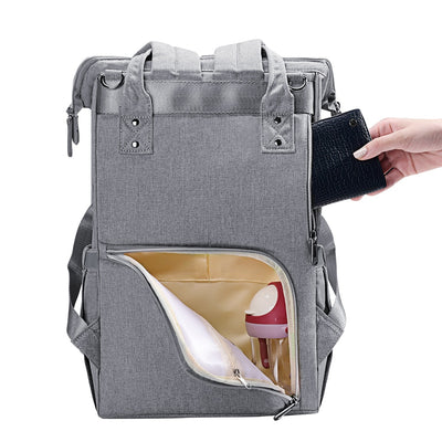 mom bag. mummy bag, diaper bag fashion diaper bag grey storage with back pocket