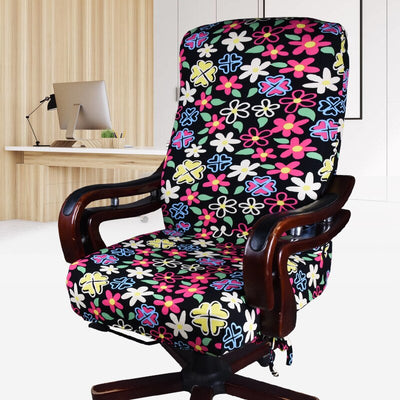 office chair slip covers with zipper flowers for girl teenager pattern bright funky