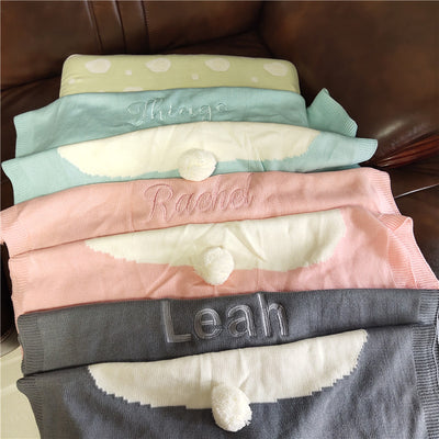 CREATEME™ Custom Name Bunny Blanket Throws