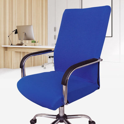 office chair slip covers with zipper colbalt blue bright blue