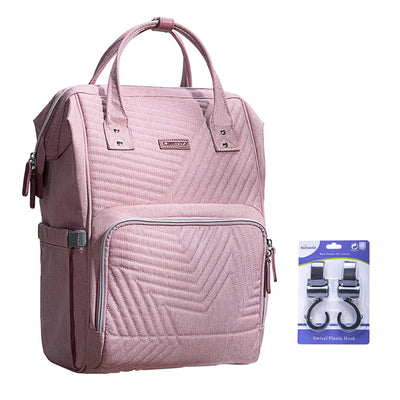 mom bag. mummy bag, diaper bag fashion diaper bag pink with stroller hooks