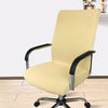 office chair slip covers with zipper beige cream color
