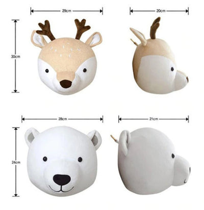 Mini Animal Wall Heads - Faux Taxidermy Animal Heads