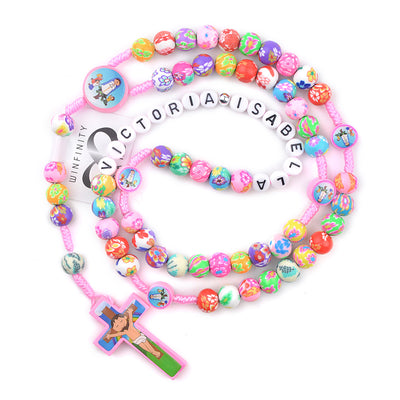 custom personalized catholic kids gift, kids rosary with name - winfinity brands
