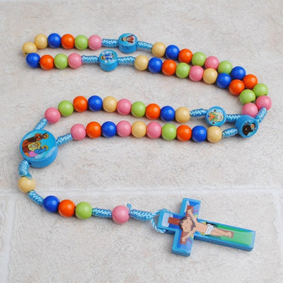 kids rosary, rosary, boy rosary, baptism rosary, communion rosary, boy communion, rainbow rosary, kids rosary