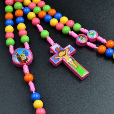 kids rosary, rosary, boy rosary, baptism rosary, communion rosary, girl communion, rainbow rosary, kids rosary
