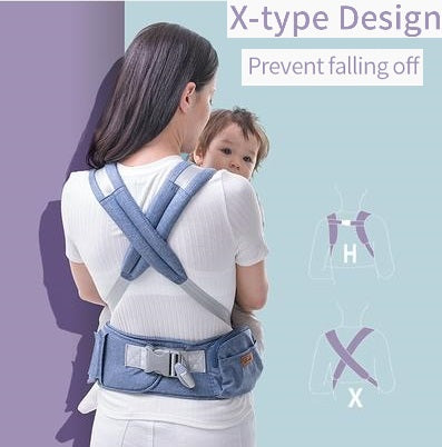 criss cross back straps travel carrier, baby infant carrier with padding