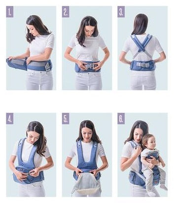 best way to put on or take off baby travel carrier easy to use baby carrier