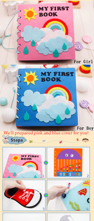 CREATEME™ DIY Handmade Felt Montessori Quiet Activity Book