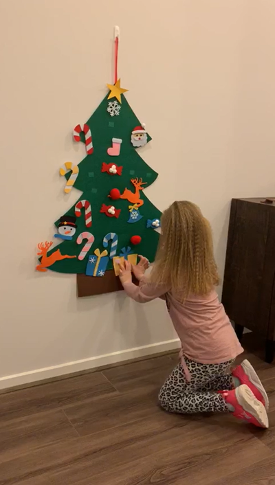 Felt Christmas Tree for Toddler and Kids