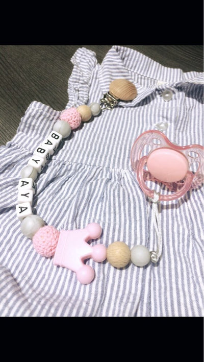 CREATEME™ Custom Name Baby Pacifier Chain
