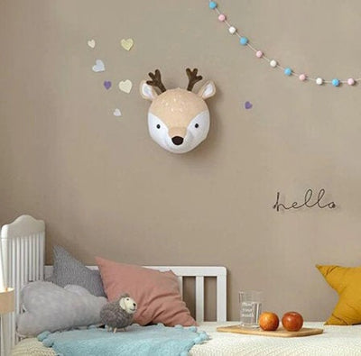 little deer head plush wall decor nursery baby room
