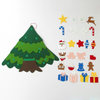 two tone color felt christmas tree for kids, christmas diy felt acitivity