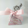 CREATEME™ DIY Marbled Pyramid Style Thank You Gift Boxes