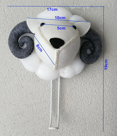Mini Wild Wall Mount Plush Animal Head Hookz