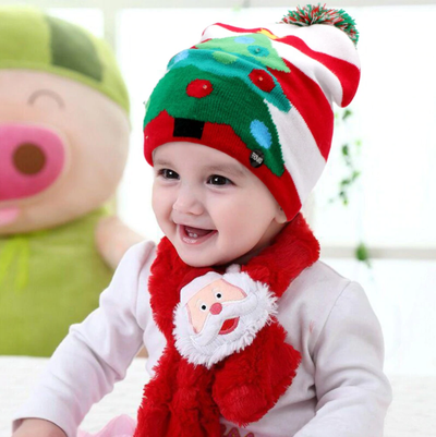 funny christmas light up hat beanie  for kids
