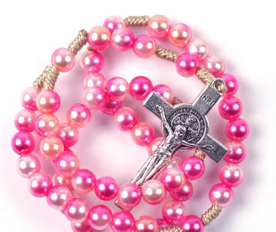colorful rosary, create your own rosary, personalized rosary, rosary beads, rosary for teens, rosary for kids, colorful rosary beads, pink rosary pearl rosary