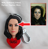 Custom Made 3D Portrait Key Chain
