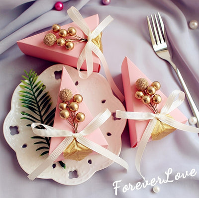 CREATEME™ Handmade Cake Slice Favor Boxes - 50pcs/lot