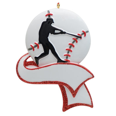 baseball player chirtsmas gift, personalixed base ball player christmas tree ornament, winfinity brands - free shipping
