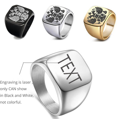 CREATEME™ Engraved Text or Photo Men's Ring