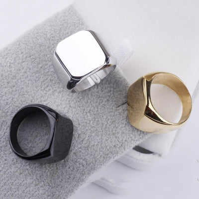custom photo personalized men's ring black, gold and silver ring colors for men - ring gift for man - winfinity brands