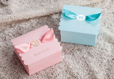 baby boy, baby girl, baby shower gift boxes in blue or pink winfinity brands - free shipping worldwide