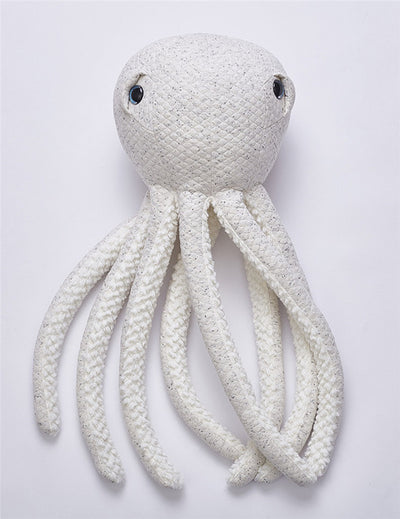 big stuffed octopus. plush octopus, nursery room decor, octopus with droopy eyes