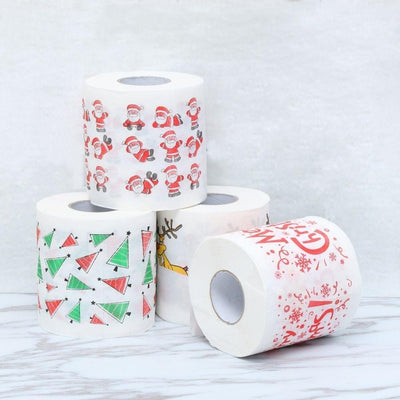 christmas toilet paper, christmas printed toilet paper, funny Christmas novelty gift, Christmas party decor