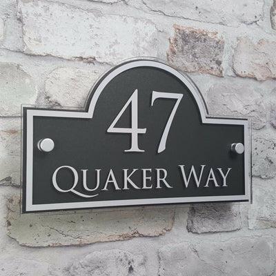 CREATEME™ Custom Made Number and Street Name House Address Plaque