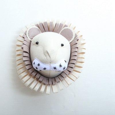 Handmade lion head for baby or kids room wall decor felt lion - winfinity brands