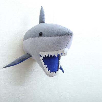 Handmade shark head for baby or kids room wall decor felt lion - winfinity brands