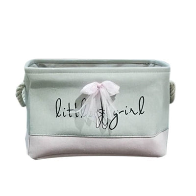 Little Girl Ballerina Fabric Storage Baskets