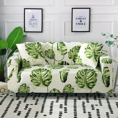spandex stretch slip cover for sofa couch sheet - winfinity brands jungle theme decor